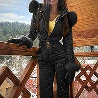 Ohwens Ski Coat Ski Jacket Women Winter Warm Snowsuit Outdoor Sports Pants Ski Suit Waterproof Jumpsuit 2019