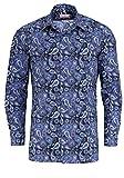 Marvelis Modern Fit Hemd Extra Langer Arm Muster Blau Größe 43