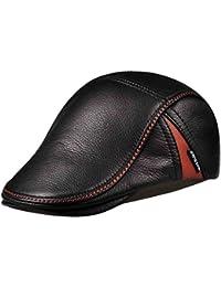 ZHMIAO Sombrero De Hombre Sombrero De Vendedor De Periódicos Gorra Plana Ivy  Flat Cap Gatsby Driver c82a0355459