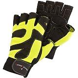 Trainingshandschuhe Leder schwarz/neongelb Größe S-XXL Fahrradhandschuhe