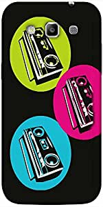 Snoogg Boombox Colourful Hard Back Case Cover Shield For Samsung Galaxy Grand Quattro Win I8550