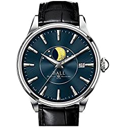 Reloj Ball Trainmaster Moon Phase, RR1801, Azul,NM3082D-LLFJ-BE, Desplegable