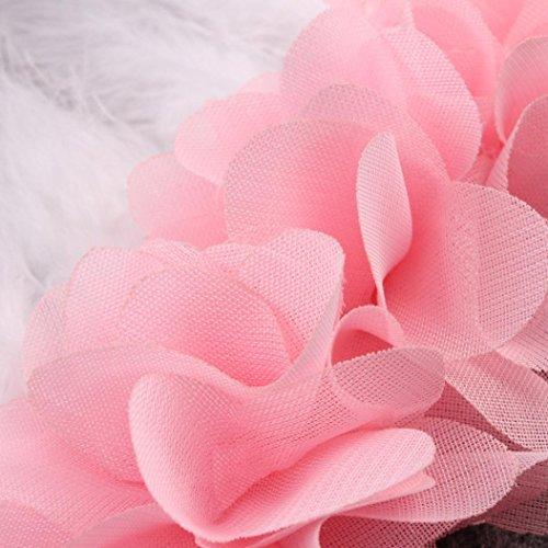 kingko® Baby Mädchen Feder elastisches Kind scherzt Mädchen Haarband Fotografie Stützen Rosa
