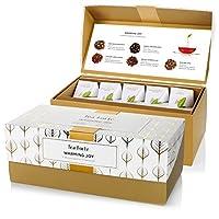 Tea Forté Warming Joy Presentation Box Featuring Seasonal & Festive Tea Blends - 20 Handcrafted Pyramid Tea Infusers
