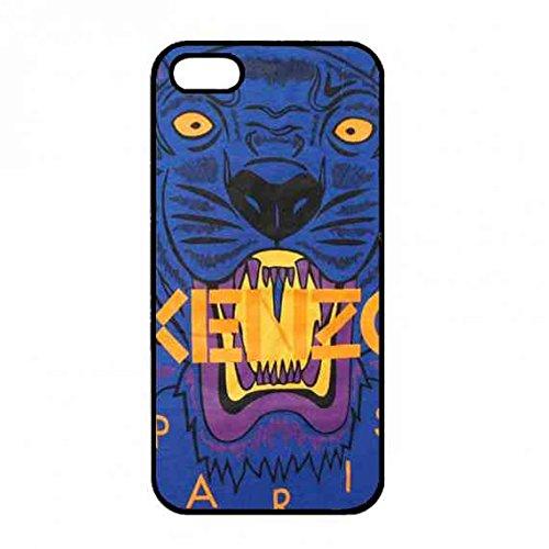 Fantasy custodia Kenzo brand logo Quotes Phone cover posteriore del telefono per iPhone 5/iPhone 5S custodia rigida nera [Elettronica]
