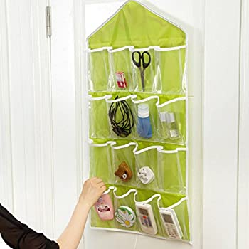 16 pockets foldable door wardrobe bathroom hanging bags clothes socks shoe underwear organizer rack hanger closet storage bag