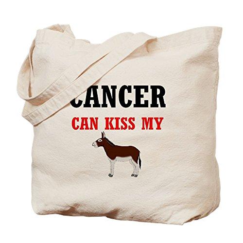 CafePress–Krebs kann Kiss My Ass–Leinwand Natur Tasche, Reinigungstuch Einkaufstasche Tote S khaki (- Bag Krebs-tote)