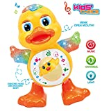 #4: Kids Choice Dancing Duck Toy with Real Dancing Action & Music Flashing Lights, Multi Color