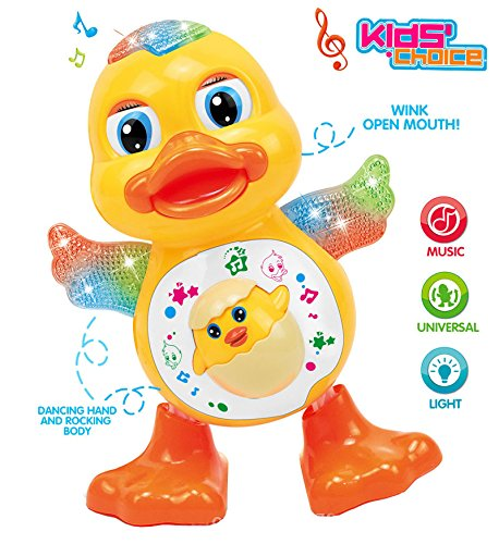 Kids Choice Dancing Duck Toy with Real Dancing Action & Music Flashing Lights, Multi Color