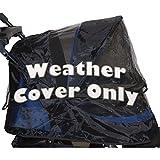 Pet Gear Wetterschutzhaube für Hundebuggy Jogger, AT3und NV Pet Buggy, schwarz