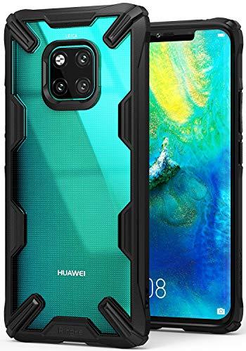 Ringke Coque Compatible avec Huawei Mate 20 Pro, [Fusion-X] Antichoc Transparente Protection [Militaire Défense Testée] PC Solide et Rigide TPU Bumper Active Bouton pour Mate 20 Pro Coque - Black