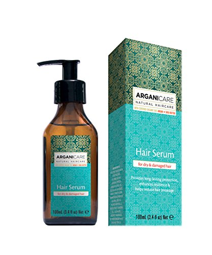 ARGANICARE Hair Serum for dry & damaged hair with Moroccan Argan oil Shea Butter 100ml (Blow Dry Serum)