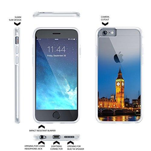 iPhone 66S Plus 5.5Case, True Color® städ Table wahrzeichen Collection Imprimé sur transparent Hybrid Hard + Soft slim fin