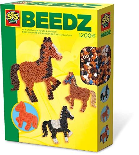 SES Creative 00758 Bügelperlenset Pferd Mosaik-Set, Mehrfarbig
