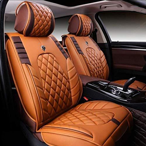 WYFC Auto Sitzbezug vorne und hinten/Autositzbezug Leder Vier Jahreszeiten Universalhülle Dicke Autositzbezug/Sitzbezug-Kit/Innenraumausstattung/Auto-Airbag-Sitzbezug/Standard 2 (Airbag-kit Für Auto)