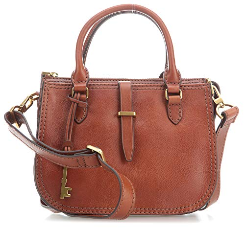 Fossil Damen Handtasche Tasche Ryder Mini Satchel Leder Braun ZB7587-200 - Handtaschen Damen-fossil