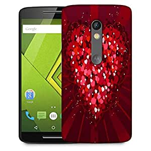 Snoogg Multiple Hearts Designer Protective Phone Back Case Cover For Motorola Moto G3