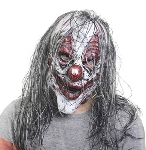Mann Alte Kostüm Gruselige - FIREWSJ Halloween Maske Halloween Latex Maske Alter Mann Gruselige Latex Maske Maskerade Halloween Kostüm Party Realistische Horror Dekoration Mit Haaren