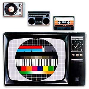 kunststoff tischsets untersetzer im retro 80er style im 4er set als kasette testbild. Black Bedroom Furniture Sets. Home Design Ideas