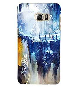 SAMSUNG GALAXY NOTE 5 EDGE SNOW MOUNTAIN Back Cover by PRINTSWAG