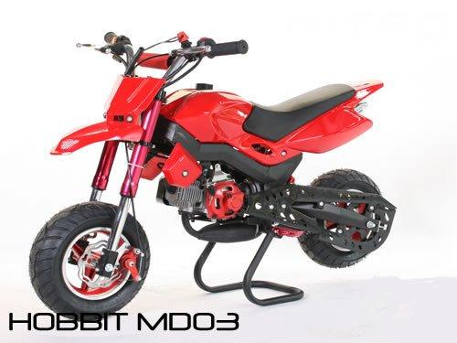 Dirtbike 49cc Hobbit Sport Pocketbike Crossbike Kinderbike Rot