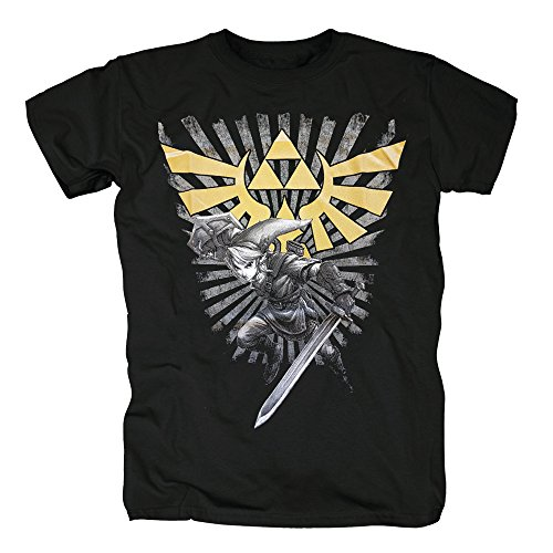 TSP Legend of Zelda - Zelda Warrior T-Shirt Herren XL Schwarz (Hyrule Warriors Legends Kostüme)