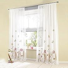 sundautumn cortinas de visillo polister diseo de flores para decoracin de saln moderno