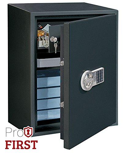 Profirst Tau 600 Wertschutzschrank S2, Zertifiziert nach EN S2 14450,mit Elektronikschloss ,ideal für Schmuck, Dokumente, mit Innentresor,B44.5 x H60 x...