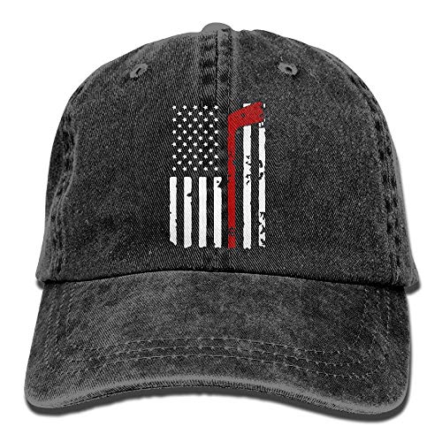 Voxpkrs Men and Women Hockey American Flag Vintage Jeans Baseball Cap