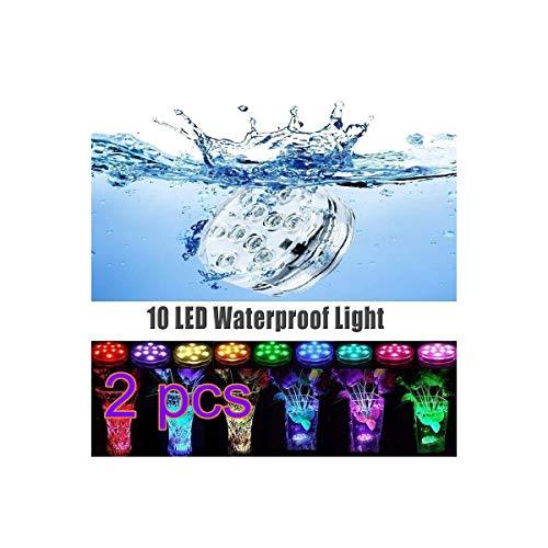 Peahop AimdonR Submersible LED Lights Wasserdichtes Unterwasserferngesteuertes batteriebetriebenes Licht Lampe, Teich Mittelstücke Vase Party Weihnachten Aquarium Dekoration