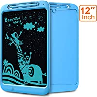 LCD Writing Tablet, Coovee 12 Inch Digital Ewriter Electronic Graphics Tablet Portable Mini Board Handwriting Pad Drawing Tablet with Memory Lock Suitable for Kids Home School Office (Monocolor)