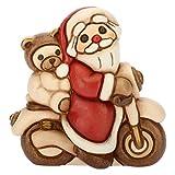 THUN Babbo Natale su Moto, in Ceramica, h 7 cm