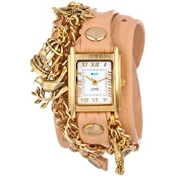 La Mer Collection's Damen LMCW6002 Birdcage Charms Wrap Armbanduhr