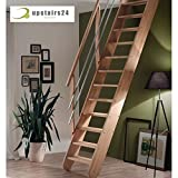 Escalier gain de place en hêtre massif - Living...