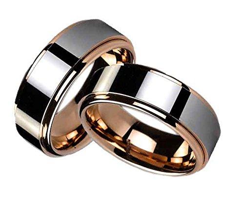 Viennajewelry Eheringe Partnerringe Trauringe Verlobungsringe Freundschaftsringe aus Wolfram/Laser Gravur GRATIS