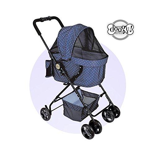Chadog Cochecito para perro dot-city azul