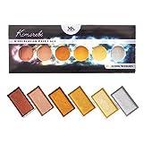 Komorebi japanisches Aquarellfarben Set – 6 Aquarell Wasserfarben mit Metallic