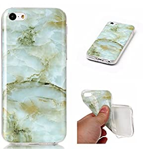 Docrax iPhone 5C Handy Hülle Marmor Muster, HandyHülle Silikon Stoßfest Kratzfest Schutzhülle Bumper Case für Apple iPhone5C – DOYHU40992#1