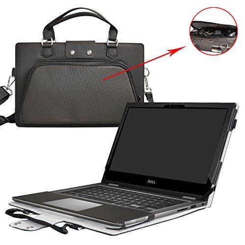 Dell 5378 5368 Hülle,2 in 1 Spezielles Design eine PU Leder Schutzhülle + portable Laptoptasche für 13.3