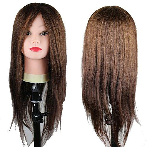 eseewigs cheveux humains Tête Mannequin Formation 55,9 cm cheveux couleur brun