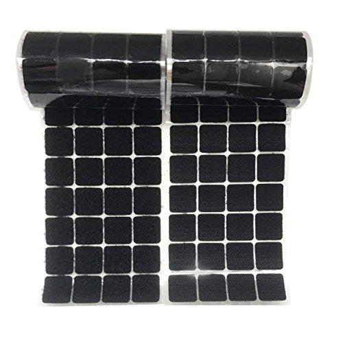 Arlent 25 mm quadratisch schwarz Gurte 200 Paar Selbst adhestive Haken und Loop Strip