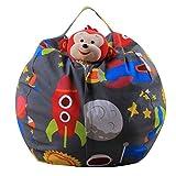 Spielzeug Aufbewahrungstaschen, Holeider Sitzsack Kinder Stofftier Kuscheltiere Aufbewahrung Aufbewahrungstasche Soft Pouch Stoff Stuhl (D)