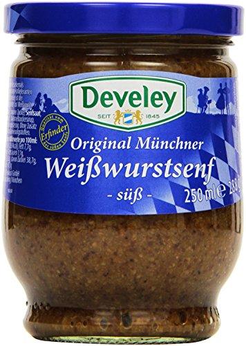 DEVELEY Original Münchner Weisswurst Senf, 250 ml
