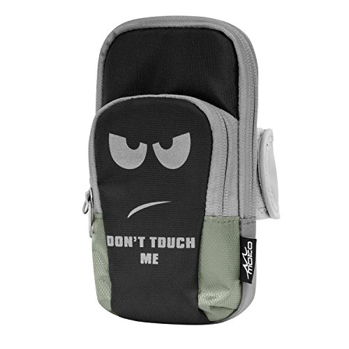Moko bracciale sportivo - borsa da braccio impermeabile per corsa, palestra, ciclismo, passeggiata, per iphone / galaxy s7 / j3 / zenfone, non mi toccare (compatibile con cellulari max. 6