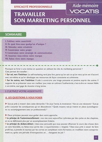 Travailler son marketing personnel