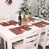 Decorazione natalizia, motivo a quadri di albero di Natale, tovaglietta, tovaglietta, decorazione per la casa e la sala da pranzo