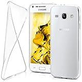 moex Samsung Galaxy Core Plus | Hülle Silikon Transparent Klar Clear Back-Cover TPU Schutzhülle Dünn Handyhülle für Samsung Galaxy Core Plus Case Ultra-Slim Silikonhülle Rückseite