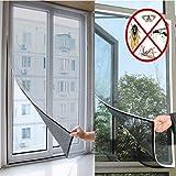 Insektenschutz Fenster Fliegengitter, Bug Moskitonetz Mesh Displayschutzfolie mit selbstklebend Klebeband, 130cm x 150cm