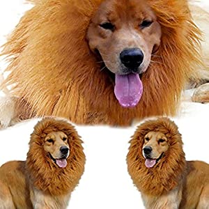 Large Pet Costume Lion Mane Wig for Dog Christmas Halloween Clothes Festival Fancy Dress up from pupproperty dog clothing