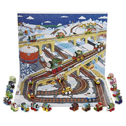 Thomas & Friends Calendrier de l'Avent Thomas Le Train 2018 | Super Calendrier Avent Garçon avec 24 Minis Locomotives avec 6 Minis Exclusifs pour Noël | Cadeau Garçon Dès 3 Ans